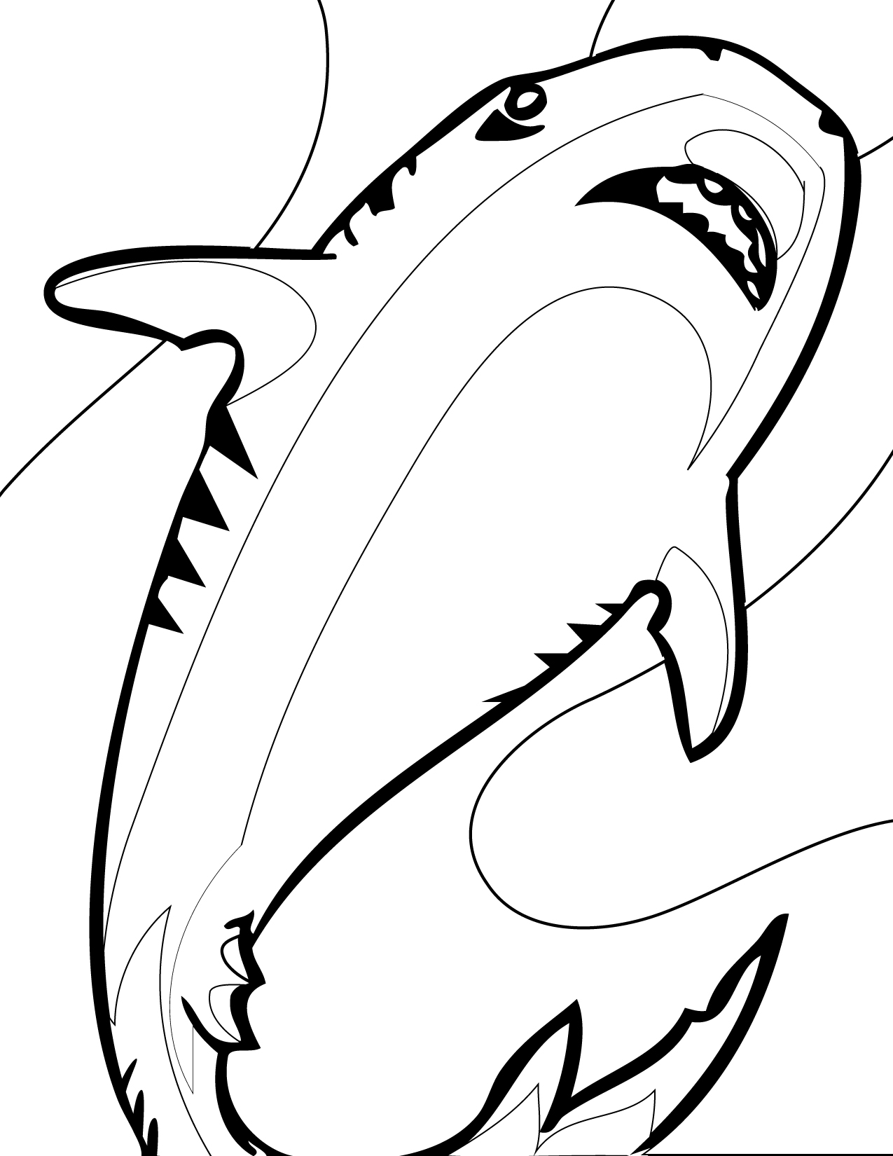 Shark Coloring Pages (5)