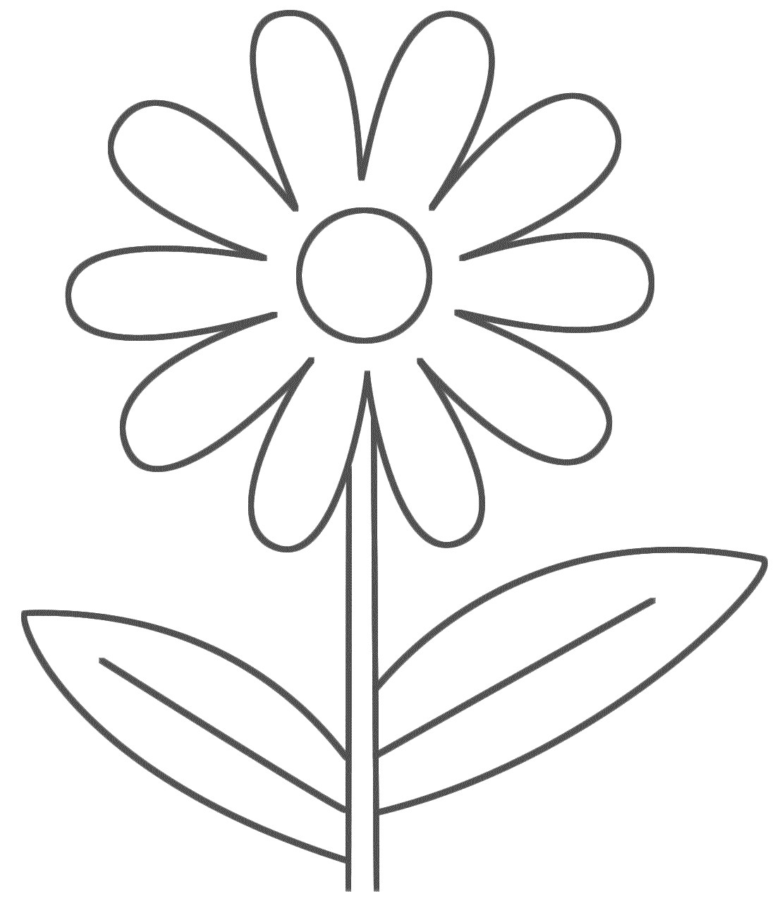 Simple Coloring Pages Of Flowers Coloring Pages