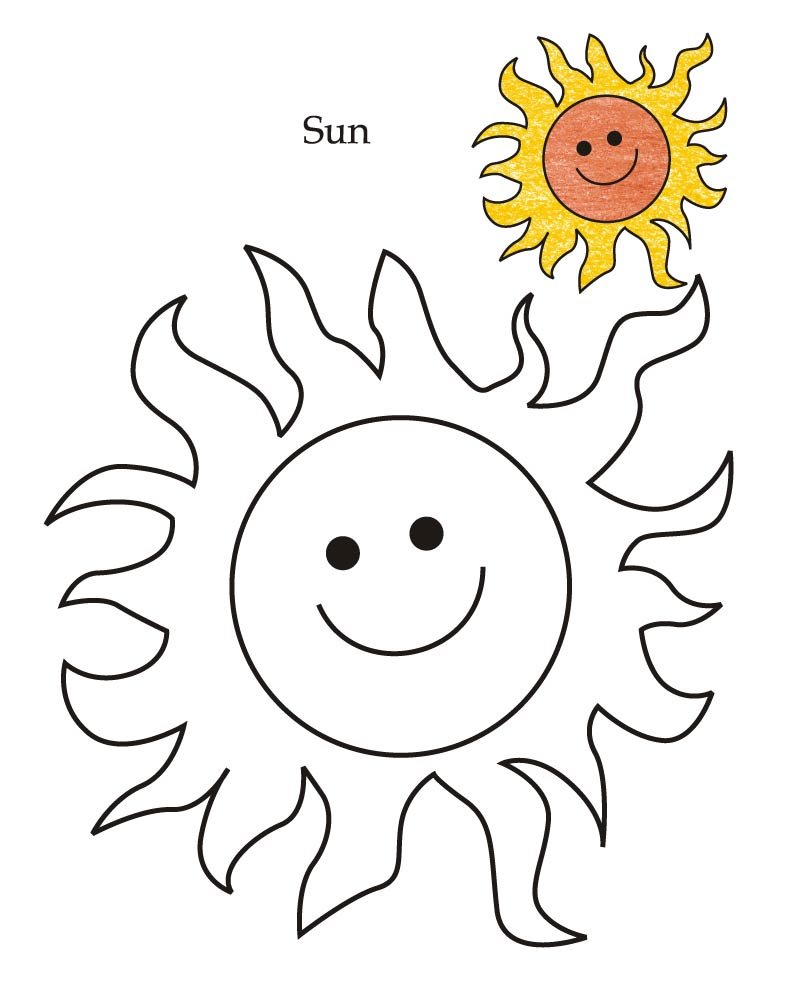 Sun Coloring Pages 11 Coloring