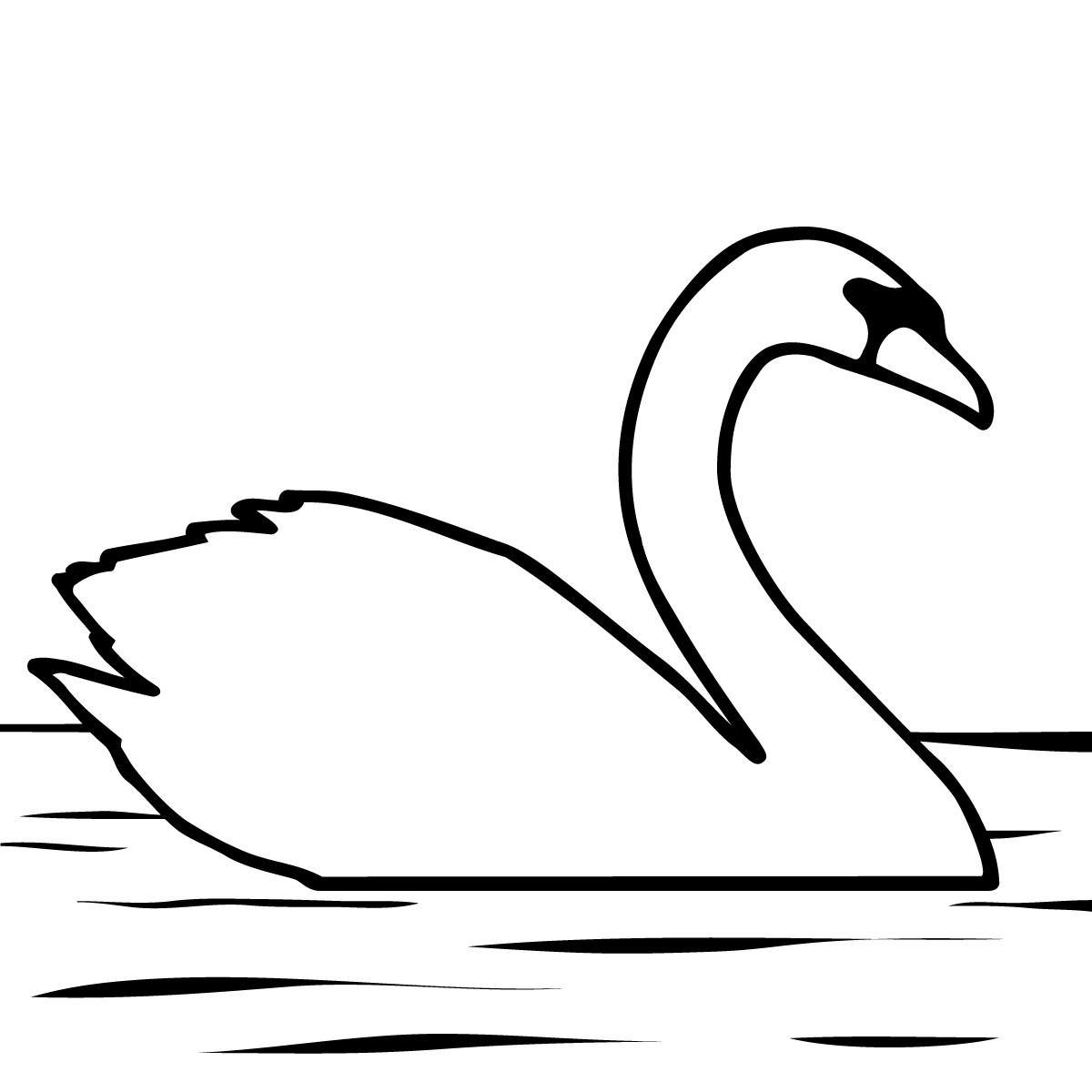 Лебедь шаблоны для вырезания