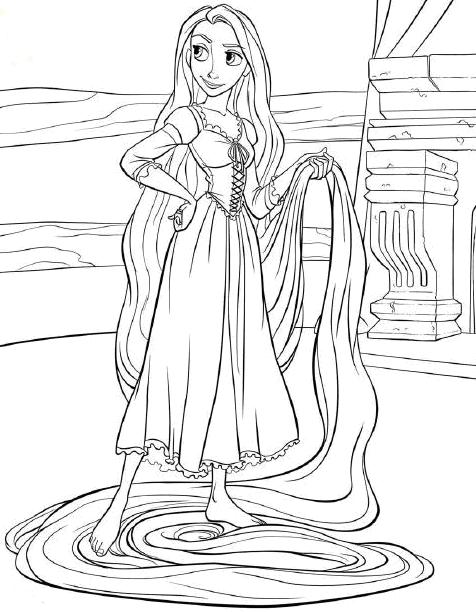 Tangled Coloring Pages (3)