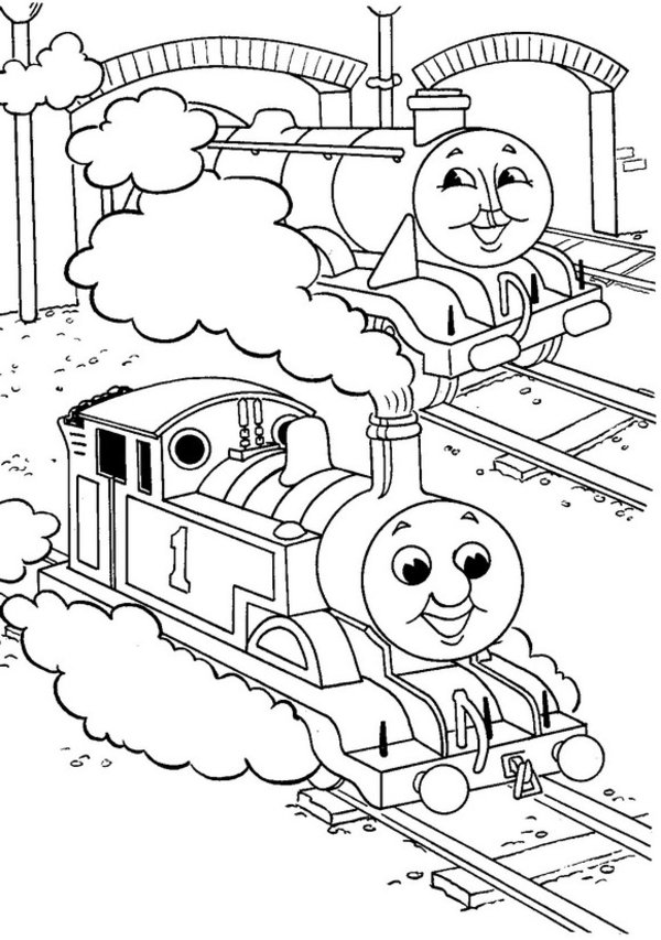 Thomas the Tank Engine Coloring Pages (10)