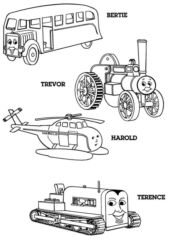Thomas the Tank Engine Coloring Pages (18)