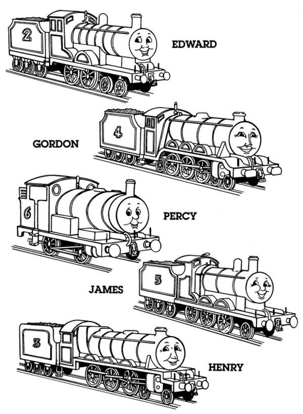 Thomas the Tank Engine Coloring Pages (5)